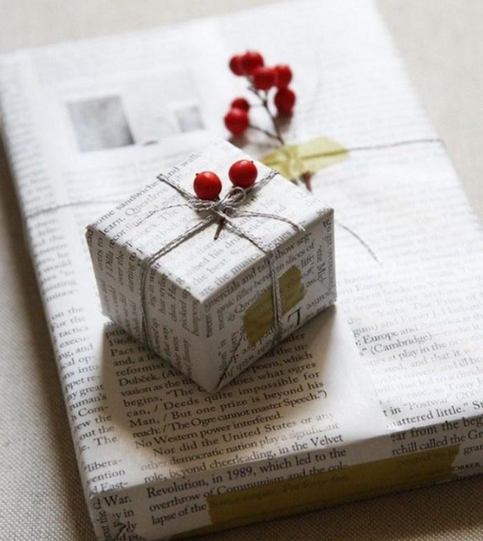 завернутый в газету подарок