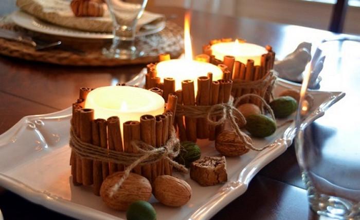свеча из коричных палочек