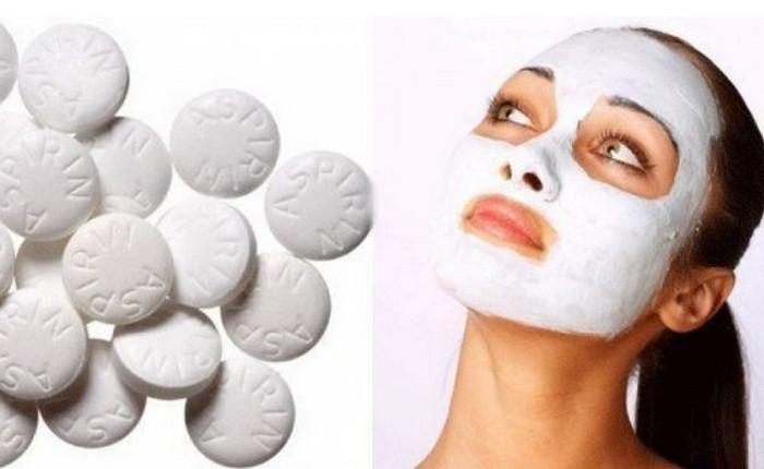 маска из аспирина на лице