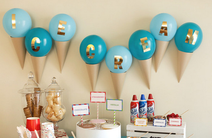 декоративные рожки с шариками
