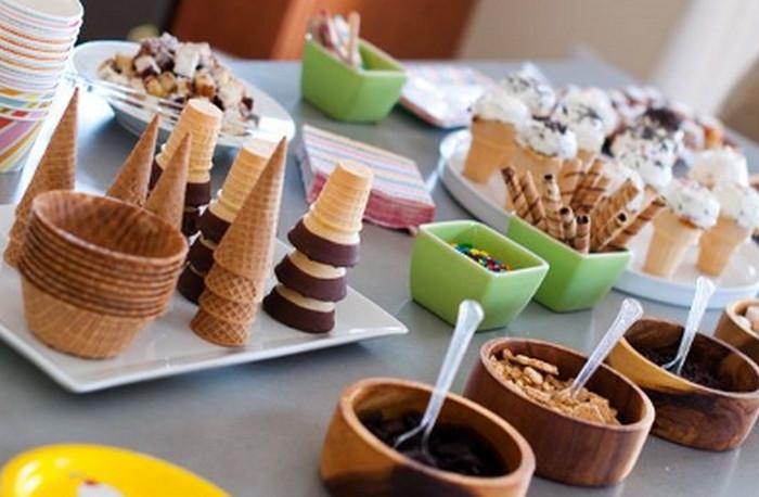 мороженое и наполнители к нему