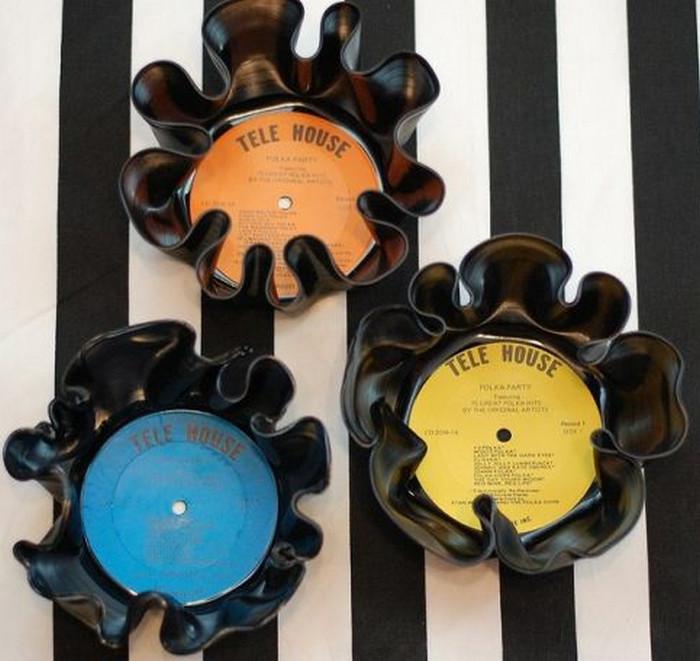 вазочки из виниловых пластинок
