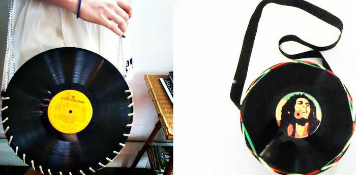 сумка из пластинок