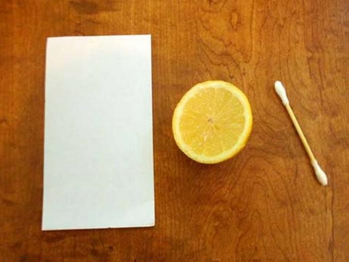 лимон и бумага