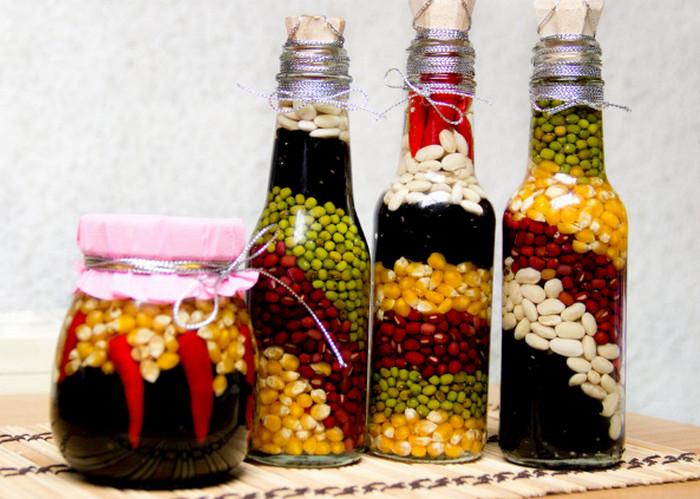бутылки с крупами