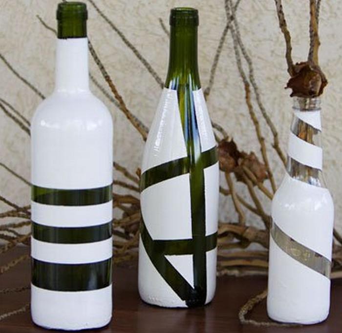 геометрические узоры на бутылке