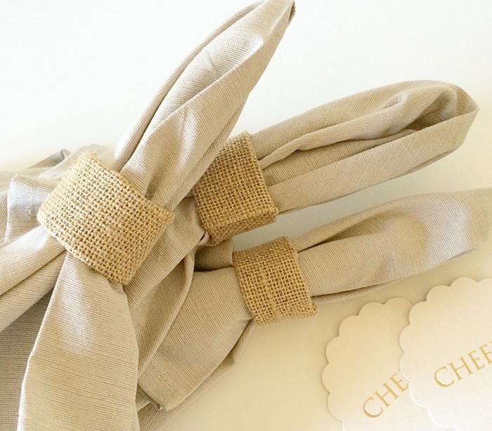 кольцо для салфеток из мешковины