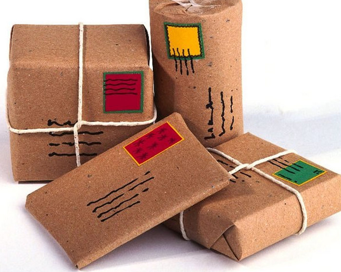 упакованные посылки