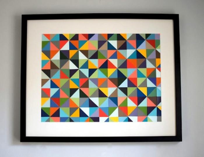геометрические рисунки на картине
