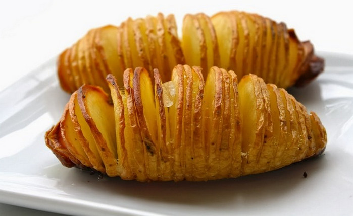 запеченная картошка гармошка