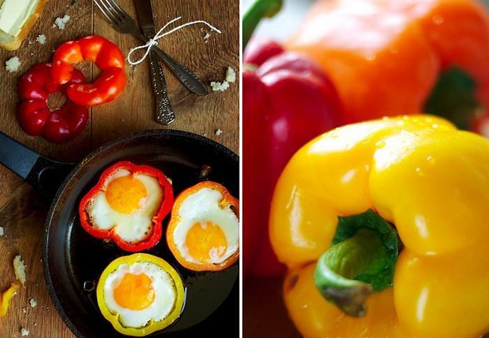 яичница в кольцах болгарского перца