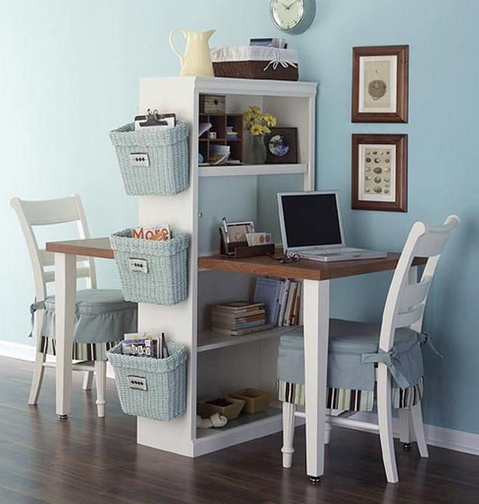 стол-шкаф с двумя рабочими зонами