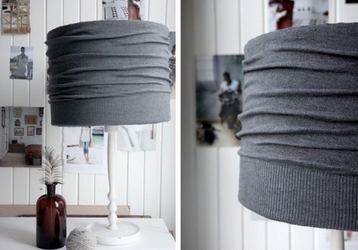 абажур из свитера