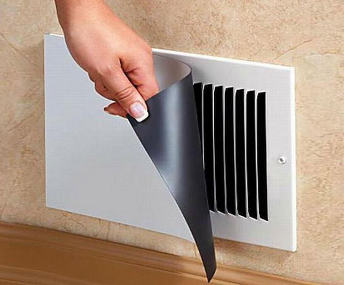 магнитная крышка на вентиляционном отверстии