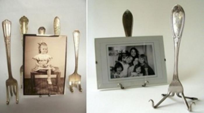 фотографии на подставках из вилок