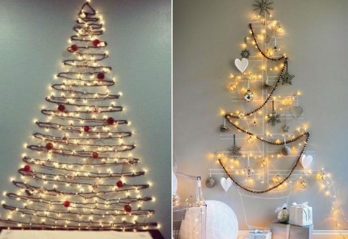 елка из светодиодной гирлянды