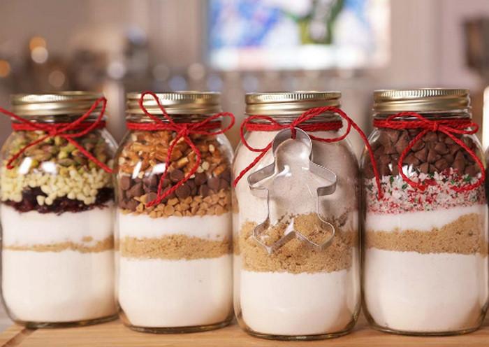 сухие ингредиенты для печенья в банке