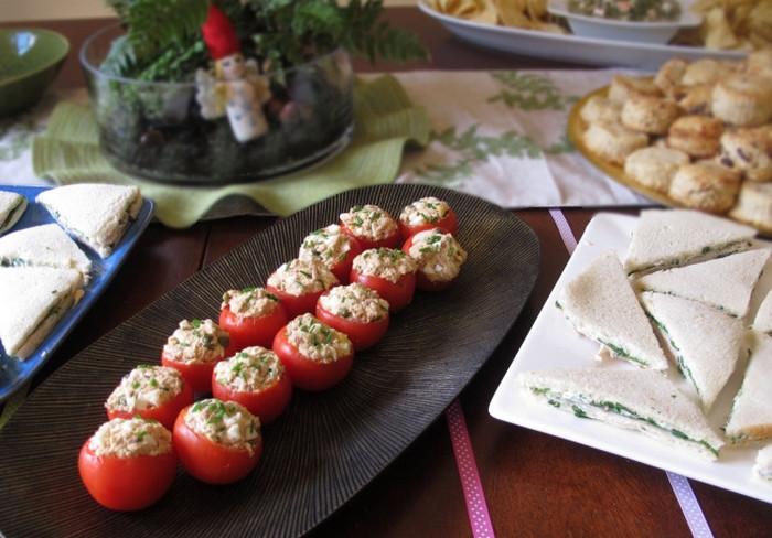 помидоры черри с сыром и чесноком