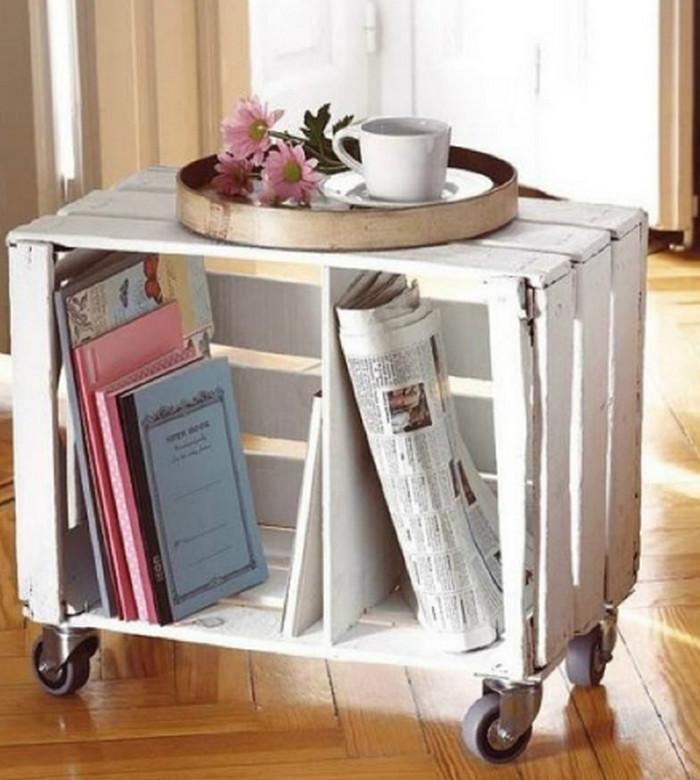 столик на колесиках из ящика