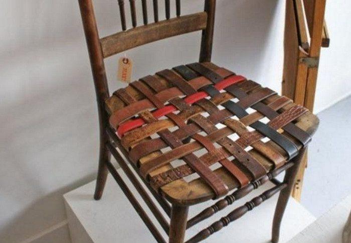 кресло из ремней