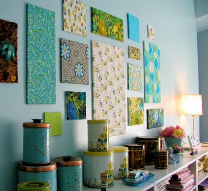 текстильное панно на стене