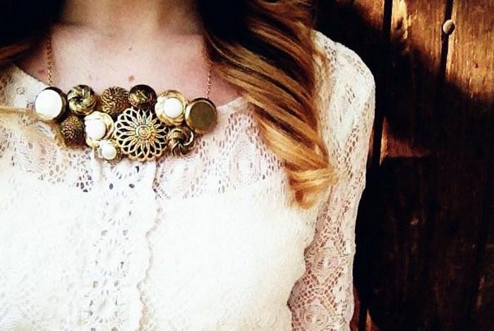 пуговичное ожерелье