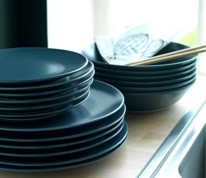 синие тарелки