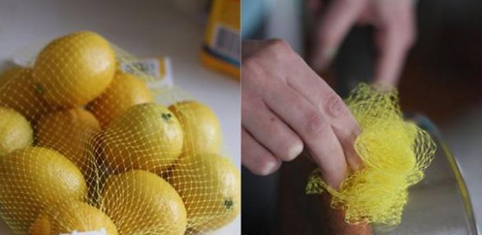 мочалка из сетки для фруктов
