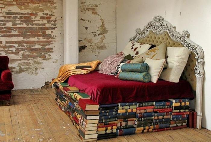 каркас кровати из книги