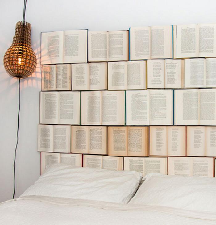изголовье кровати из книги