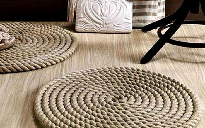 коврик из веревки