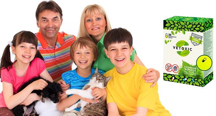 Vetoxic от паразитов и гельминтов: 100% безопасен для всей семьи!