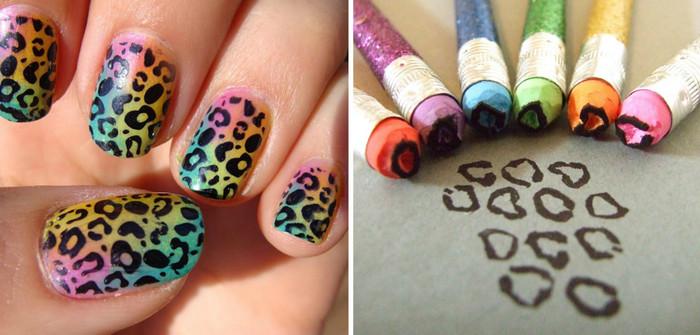 анималистичный принт на ногтях
