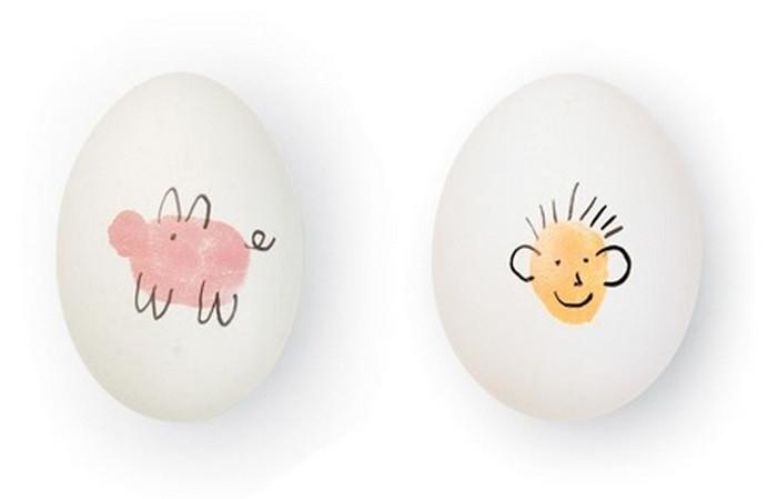 яйца с детскими рисунками