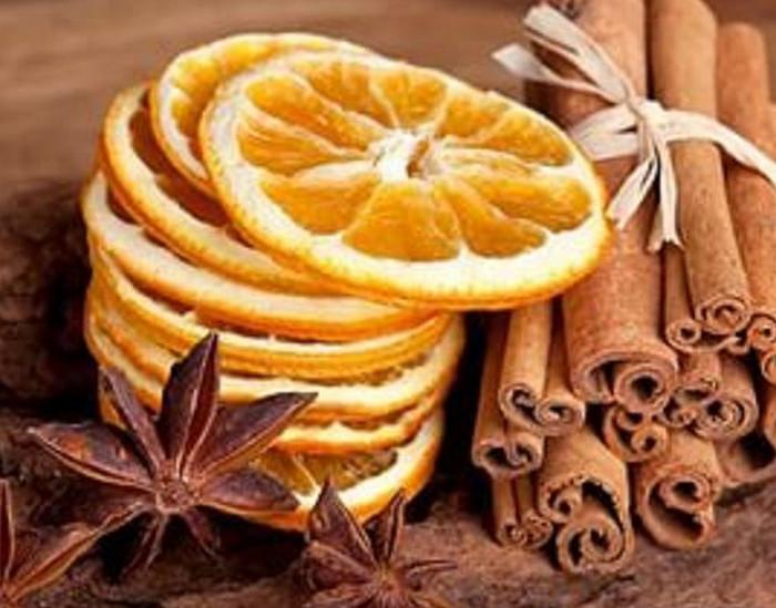 сушеные апельсиновые ломтики