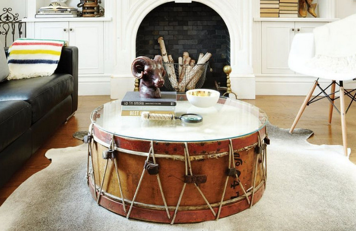 стол из барабана