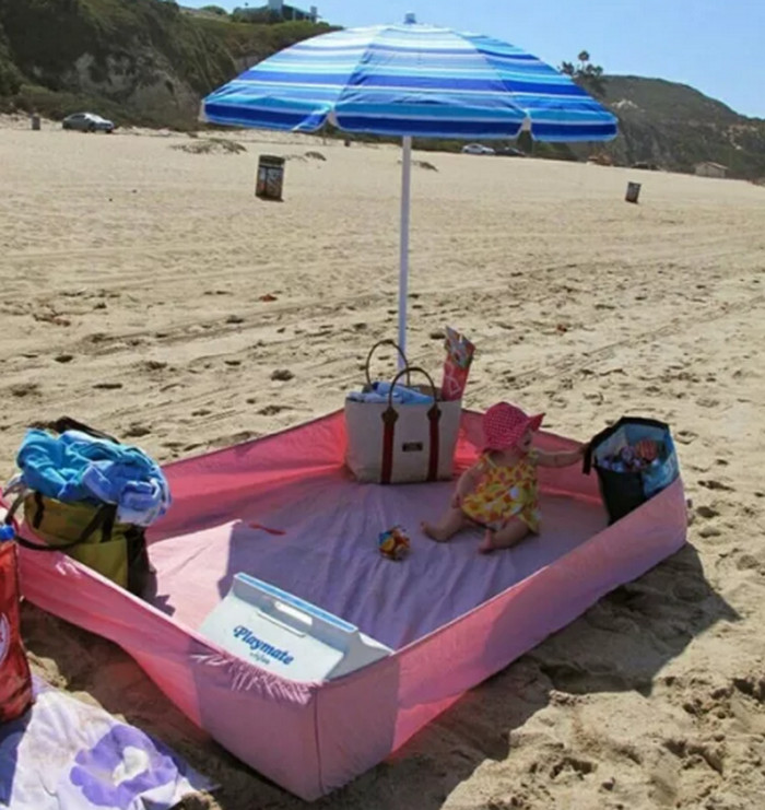 простыня на пляже