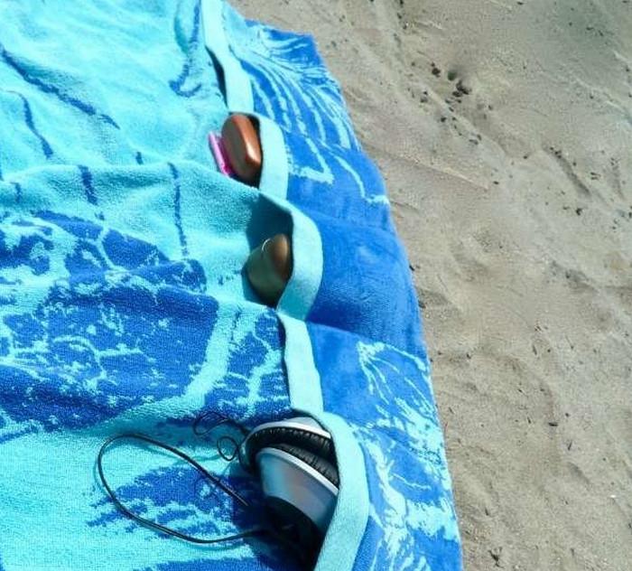 полотенце с кармашками