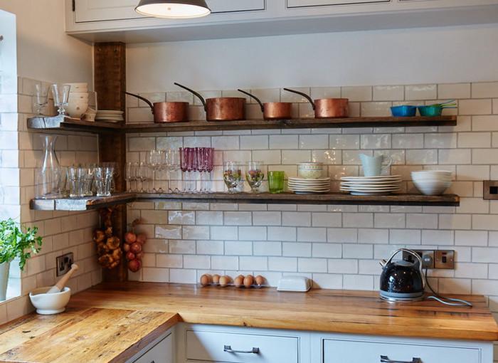 полки вместо ящиков на кухне