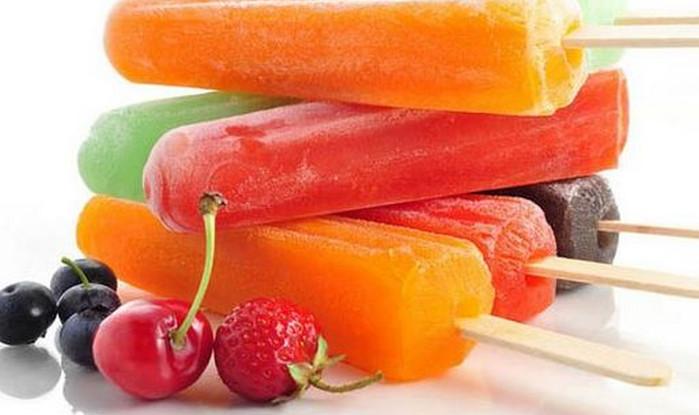 фруктовый лед из сока