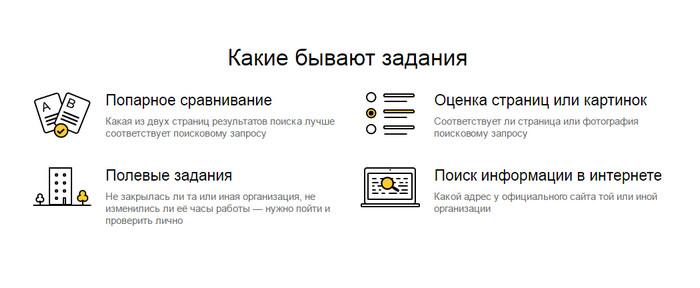 какие бывают задания на Яндекс.Толока