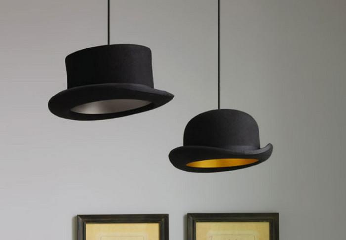 лампа из шляпы