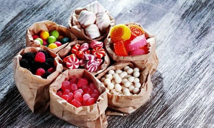 сладости в мешочках