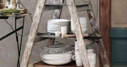 ТОП 10 лайфхаков со стремянкой в интерьере: дизайн handmade