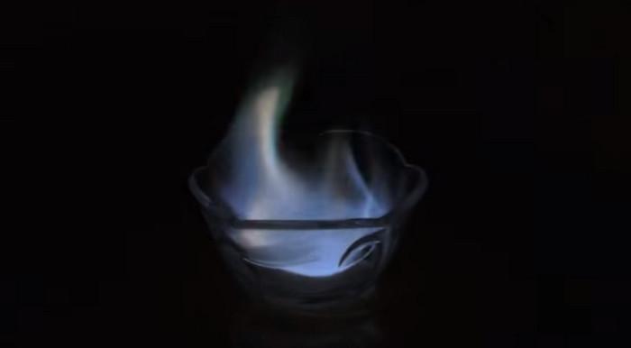 водка горит