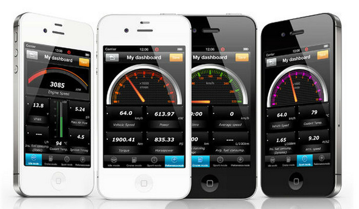 интерфейс OBD-2 iPhone application