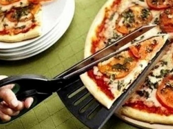 разрезать пиццу ножницами