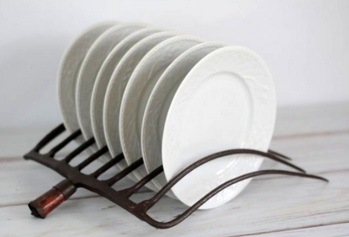 сушилка для тарелок из граблей
