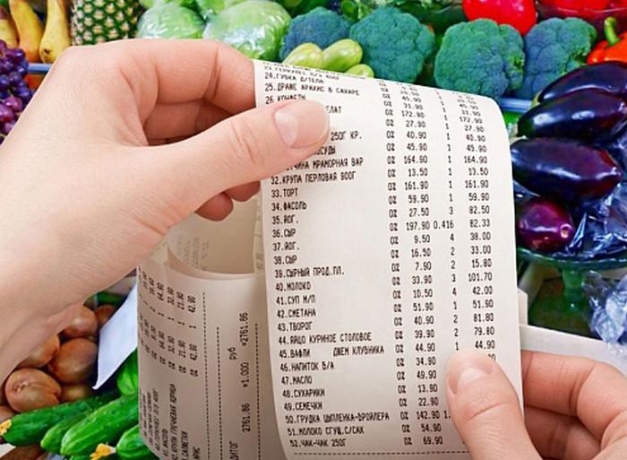 чек на продукты