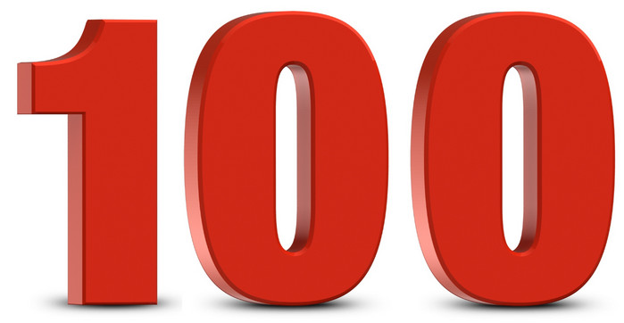 цифра 100